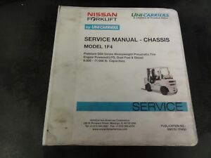 Nissan-UniCarriers-Forklift-Model-1F4-Chassis-Service-Manual-SM13U-1F4G0