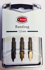 BRAUSE CALLIGRAPHY NIBS - BANDZUG 1.5mm - PACK OF 3 CALLIGRAPHY NIBS. (318015B)