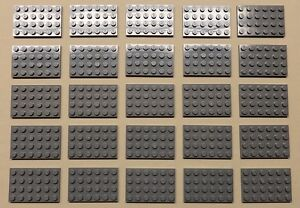 x25 NEW Lego Gray Plates Baseplates Brick Building Base Plates LIGHT BLUISH GRAY