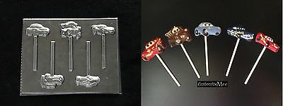 CARS Lollipop II McQUEEN SALLY DOC Chocolate Candy Soap Mold