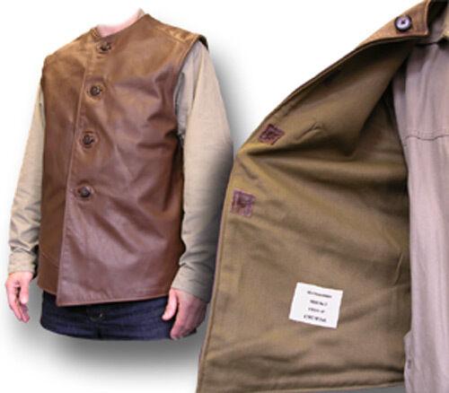 Jerkin New Leather Brown 1940 01073 Brand British Remake t6vqwt