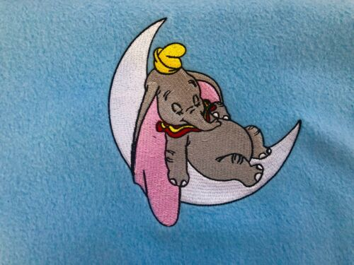 Personalised Embroidered Baby Blanket Sleeping Dumbo 1 Name /& Wrapped