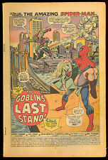 AMAZING SPIDER-MAN #122 DEATH OF GREEN GOBLIN COVERLESS READER COMPLETE CLASSIC