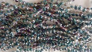 Joblot-of-10-strings-Rainbow-2-tone-6mm-round-shape-Crystal-beads-new-wholesale