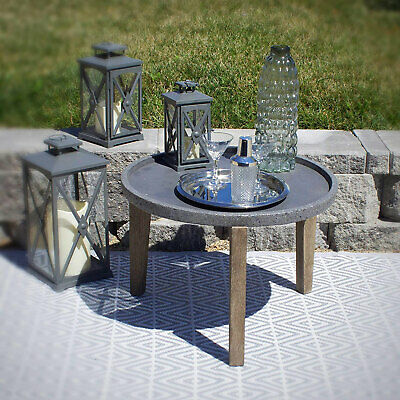 Pebble Lane Living Bali Cement Earth Round Side Table with ... on Pebble Lane Living id=26532