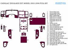 DASH TRIM PREMIUM KIT 27 PCS FITS CADILLAC ESCALADE EXT 2003-2006 WITH GLOVE BOX