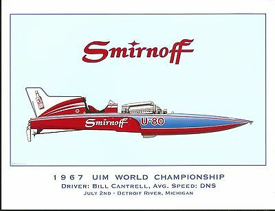 1967 Miss Smirnoff Hydroplane Art Print - by R J  Tully | eBay