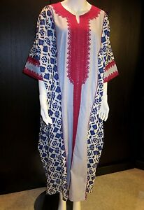 Caftan-kaftan-cover-up-embroidery-dubai-abaya-maxi-dress-Free-Size-NEW