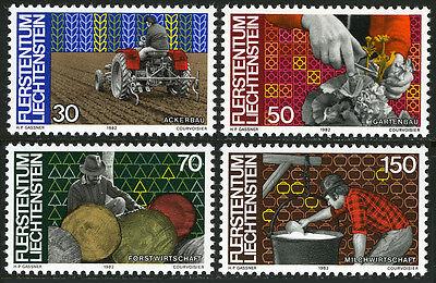 Sammlung Hier Liechtenstein 740-743 Mi 802-805 Postfrisch Landwirtschaft Gartenbau,