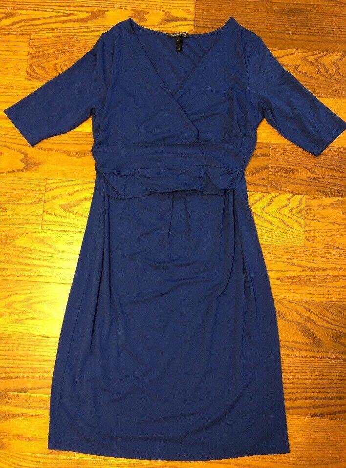 Isabella Oliver bluee Credver Jersey Maternity Nursing Dress Size 4 (US 10)