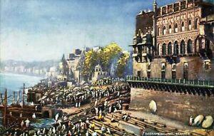 Dassamedh-Chat-Benares-postcard-Oilette-antique-colour-Raphael-Tuck-amp-Sons