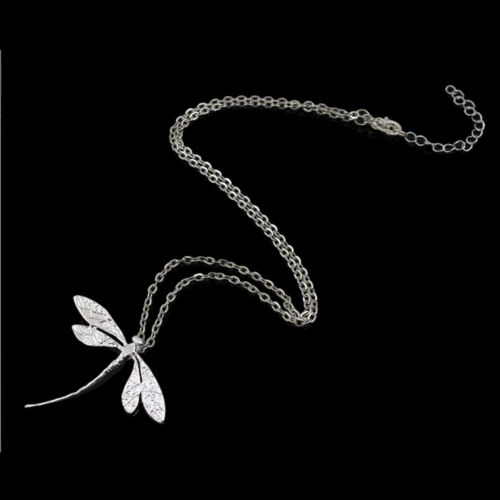 CL Women Elegant Jewelry Fashion silver Plated dragonfly necklace pendant GS