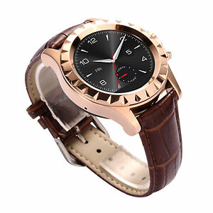 Women Bluetooth Smart Wrist Watch Brown Strap For Android ...
