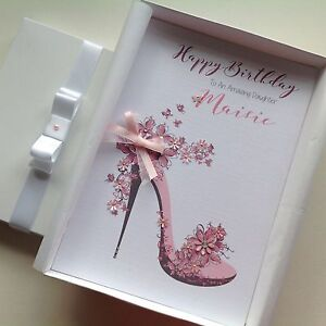 Image Is Loading Personalised Handmade Birthday Card GIFT BOX Mum Grand