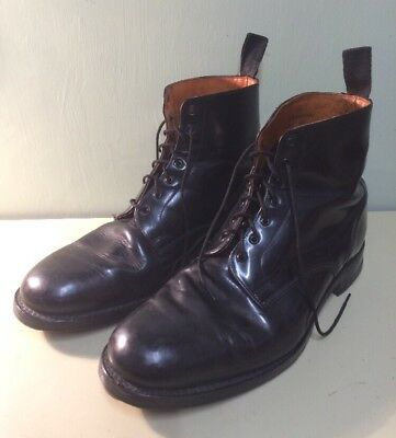 Original AVALON British Army Issue Black Leather Parade Ammo Studded Boots