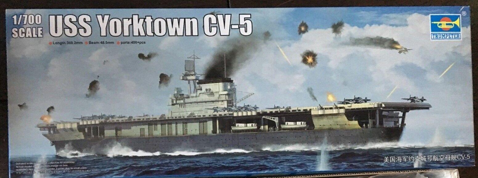 1 700 USS Hornet (CV-5) 1942 Aircraft Carrier -- Trumpeter