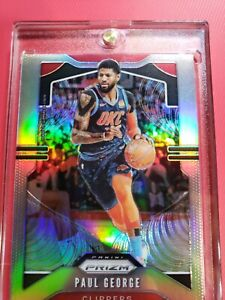 2019-20-Panini-Prizm-SILVER-Refractor-185-Paul-George-Los-Angeles-Clippers