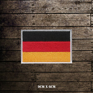 Germany-National-Flag-Embroidered-Iron-On-Sew-On-Patch-Badge-For-Clothes-etc