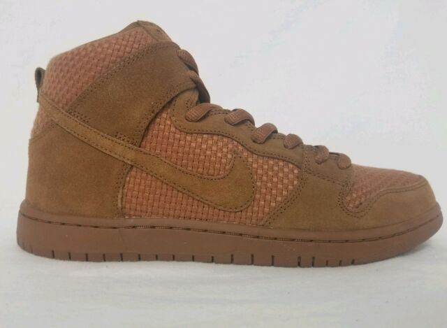 finest selection 5a149 7fd57 Nike Dunk High Premium SB Suede Ale Brown Gum 313171 227 Mens Size 9.5 No  Boxtop