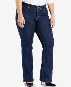 LEVIS-415-Classic-Bootcut-Jeans-Stretch-Denim-Storm-Rider-Blue-Plus-Size-18-M