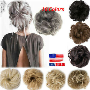 NEW-Curly-Messy-Bun-Hair-Piece-Scrunchie-Hair-Extensions