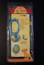 New NIP Disney The Lion King Simba Locket Digital Watch Necklace Timex Kid Child