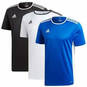 Adidas-Performance-Homme-Entrada-18-Jersey-T-Shirt-Couleurs-Blanc-Noir-Bleu