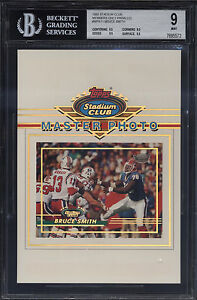 1993-Stadium-Club-5x7-Members-Only-Master-Photo-Bruce-Smith-Mint-BGS-9-Subs-9-5