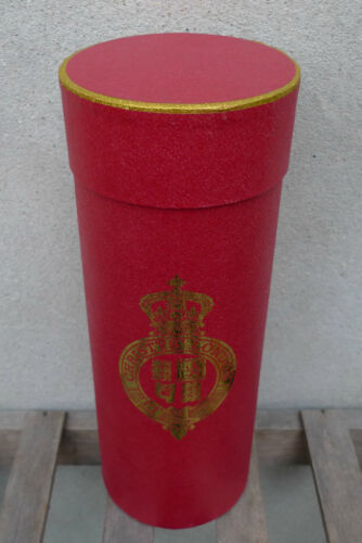 11in//28cm Red and Gold Christys/' Hat Box Tube for Folding Panama