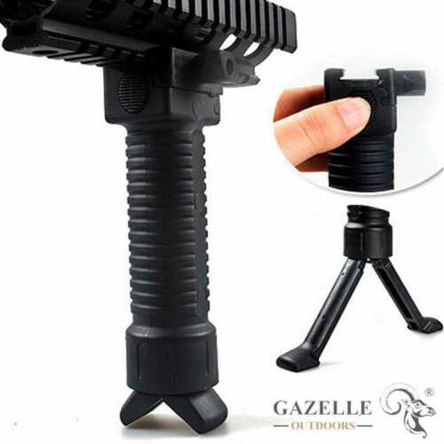 Tactical Military RIS Fore Grip Bipod Pod Picattinny Weaver Rail Rifle Foregrip