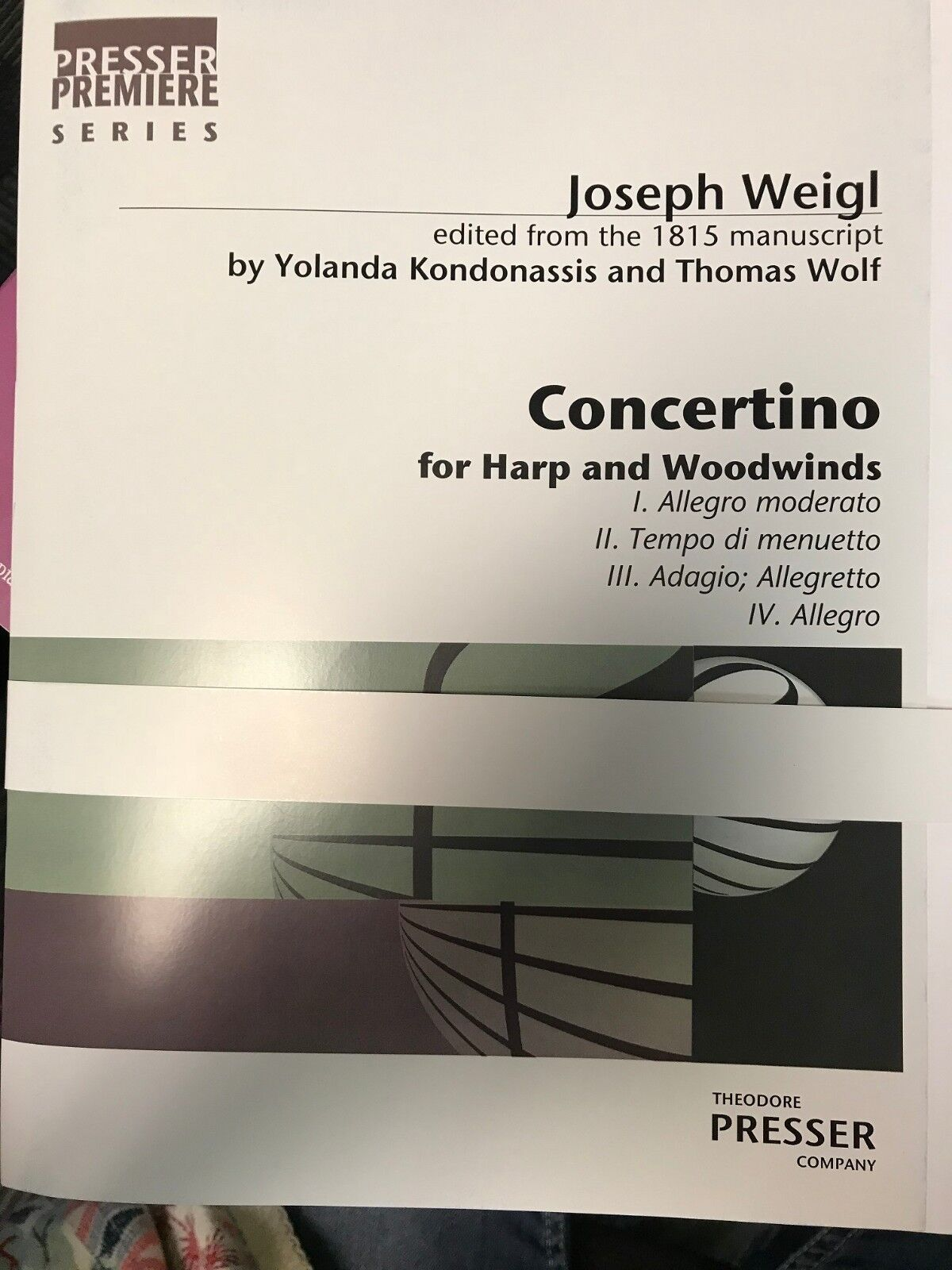 Weigl  Concertino for Harp Harp Harp and Woodwinds by Kondonassis and Wolf c43d0b