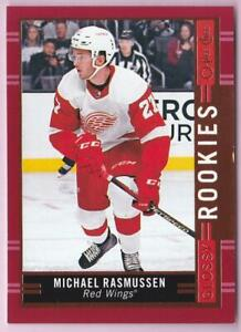 MICHAEL-RASMUSSEN-RC-2018-19-O-PEE-CHEE-OPC-RED-BORDER-GLOSSY-ROOKIES-R-9