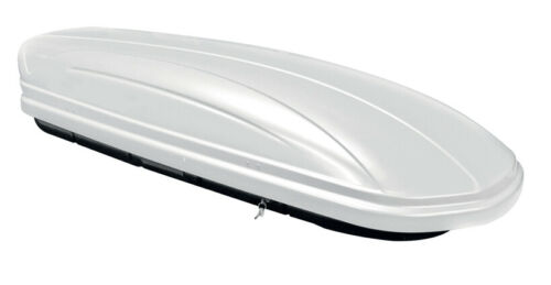 Dachbox MAA320L weiß+Dachträger CRV120 für Skoda Octavia III SW 5Türer ab 13