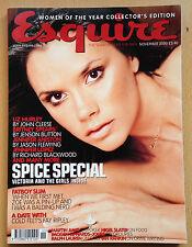 Esquire Magazine UK November 2000,Victoria Beckham,SPICE GIRLS,Emma Bunton