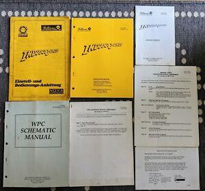 Williams Indiana Jones Pinball Complete Original Used Manual Set