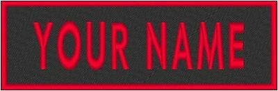 "Custom Embroidery 11"" x 4"" Name Tag MC Emblem Patch Motorcycle Biker #48"