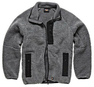 HEAVYWEIGHT FLEECE JACKET NEW MENS ZIP POCKETS FULL ZIP WORKWEAR ...