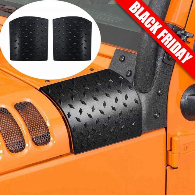 2Pcs Car Body Armor Plate Side Cowl Frame Cover Trim For 07-17 Jeep Wrangler JK