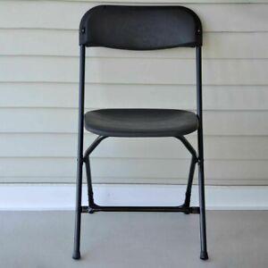 Black Plastic Folding Chair 10 Pack