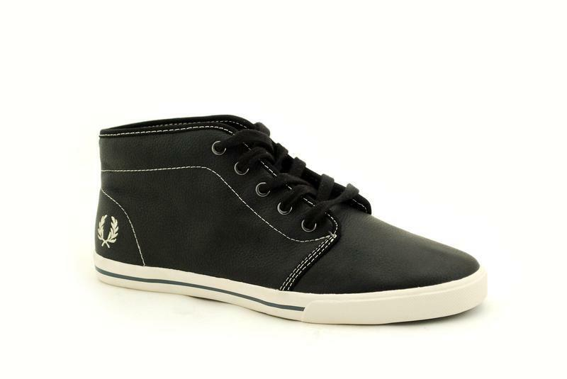 Fred Perry Fletcher Black Leather B8209