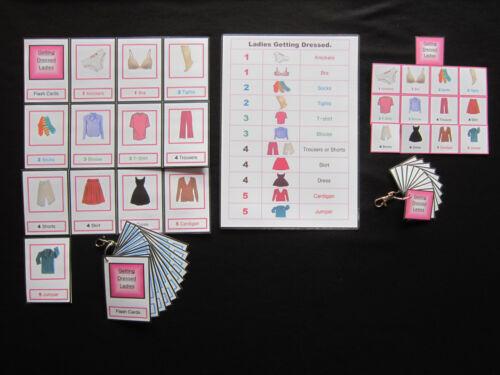 Vestito da donna con le Carte-perdita di memoria o discorso//Autismo//Demenza//ALZHEIMERS