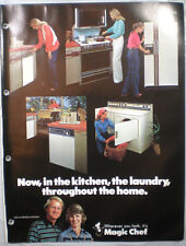 Vtg MAGIC CHEF Appliances Catalog RETRO Kitchen Ranges Ovens Refrigerators 1980