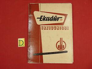Schlussverkauf Ekadur Erzeugnisse Ausführungen Und Abmessungen 1956 Alte Berufe