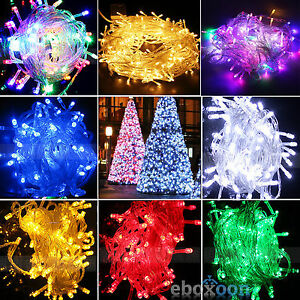 100/200 LED Christmas Party Tree Fairy String Lights Outdoor Indoor With US Plug
