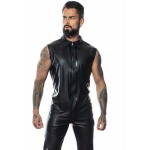 Patrice-Catanzaro-Chuck-Chemise-debardeur-sexy-noire-en-wetlook-faux-cuir