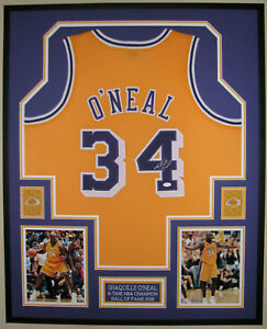 af158f137 Image is loading SHAQUILLE-O-039-NEAL-AUTOGRAPHED-LOS-ANGELES-LAKERS-