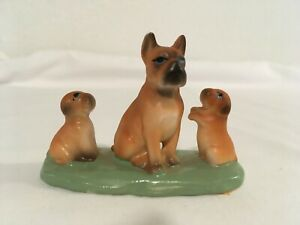 Vintage-BRADLEY-EXCLUSIVES-JAPAN-Ceramic-Dog-w-Puppies-c-1973