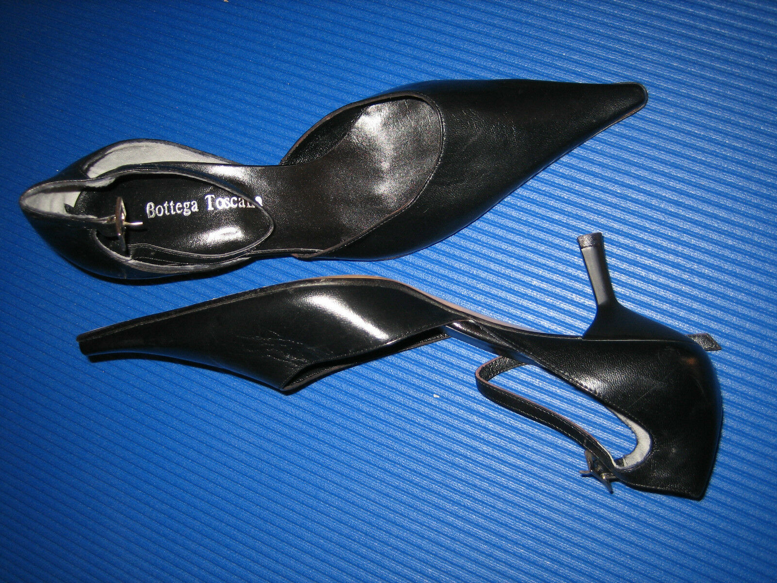 BOTTEGA TOSCANA edle Designer Leder Schuhe Pumps Gr. 38 schwarz NEU und OVP