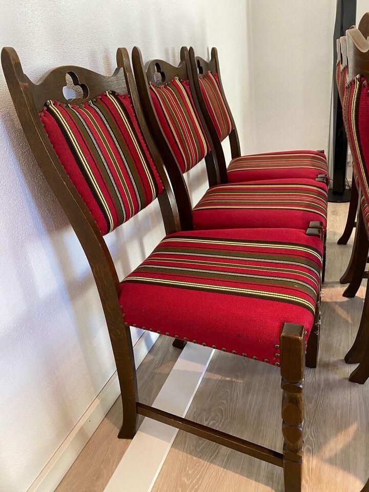 Spisebordsstol, Træ og vævet stof