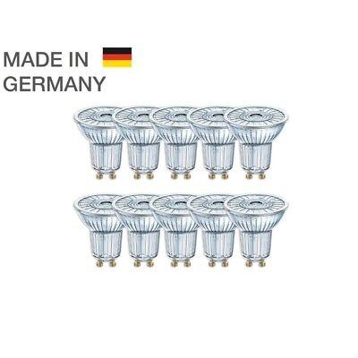 10er-PACK OSRAM LED BASE PAR16 Glas GU10 Strahler 4.3W=50W 36° 2700K Germany